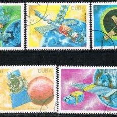 Sellos: CUBA Nº 3183/9, DIA DE LA COSMONAUTICA: MISIONES ESPACIALES, USADO (SERIE COMPLETA). Lote 260735295
