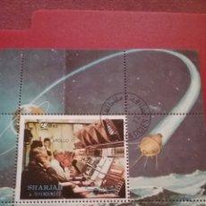 Sellos: HB SHARJAH (E.A.U) MTDO/1972/APOLO17/ESPACIO/NASA/COCHETE/LANZADERA/PLANETA/SATELITE/ORBITA/COSMOS/L. Lote 261203940