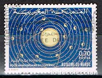 MARRUECOS IVERT Nº 684, 5º CENTENARIO DE COPERNICO, USADO (Sellos - Temáticas - Conquista del Espacio)