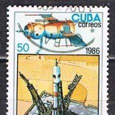 Sellos: CUBA Nº 3014, 25 ANIVERSARIO DEL PRIMER HOMBRE EN EL ESPACIO, USADO. Lote 262586520
