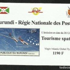 Sellos: BURUNDI 2012 HOJA BLOQUE SELLOS TEMÁTICA CONQUISTA DEL ESPACIO - TURISMO ESPACIAL. Lote 262655040