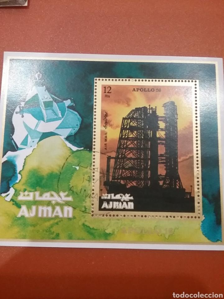 HB AJMAN, ESTADO (E.A.U) MTDA/1971/APOLO/16/LANZADERA/COHETES/ESPACIO/SATELITE/PLENTAS/ASTRONAUTAS/A (Sellos - Temáticas - Conquista del Espacio)