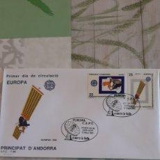 Sellos: 1990 ANDORRA ESPAÑOLA EDIFIL 223/4 MATASELLO SFC 88 EUROPA CONQUISTA ESPACIO OLYMPUS ESA. Lote 263275360