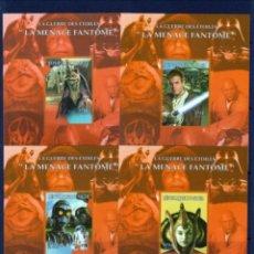 Sellos: NIGER 1998 STAR WARS EPISODIO 1 LA AMENAZA FANTASMA - HOJAS RECUERDO SIN DENTAR - NUEVAS MNH. Lote 265750124