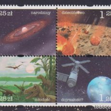 Sellos: ⚡ DISCOUNT POLAND 2004 COSMIC HISTORY OF THE EARTH MNH - SPACE, DINOSAURS. Lote 266196478