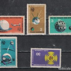 Sellos: ⚡ DISCOUNT CUBA 1965 THE 100TH ANNIVERSARY OF I.T.U MNH - SPACE, SPACESHIPS. Lote 266240568
