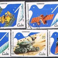 Sellos: CUBA Nº 2654/8, DIA DE LOS COSMONAUTAS, USADO. Lote 266543103
