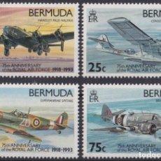 Sellos: F-EX26451 BERMUDA MNH 1993 WWII AVION AIRPLANE 75TH ANIV ROYAL AIR FORCE.. Lote 270543608
