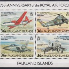 Sellos: F-EX26452 FALKLAND IS MNH 1989 WWII AVION AIRPLANE 75TH ANIV ROYAL AIR FORCE.. Lote 270543613