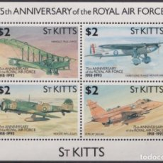 Sellos: F-EX26454 ST KITTS MNH 1993 WWII AVION AIRPLANE 75TH ANIV ROYAL AIR FORCE.. Lote 270543623