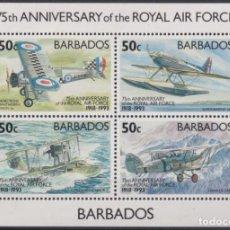 Sellos: F-EX26455 BARBADOS MNH 1993 WWII AVION AIRPLANE 75TH ANIV ROYAL AIR FORCE.. Lote 270543628