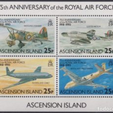Sellos: F-EX26456 ASCENSION MNH 1993 WWII AVION AIRPLANE 75TH ANIV ROYAL AIR FORCE.. Lote 270543633