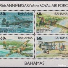 Sellos: F-EX26457 BAHAMAS MNH 1993 WWII AVION AIRPLANE 75TH ANIV ROYAL AIR FORCE.. Lote 270543643