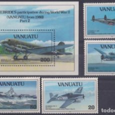 Sellos: F-EX26463 VANUATU MNH 1993 WWII AVION AIRPLANE NEW HEBRIDES PARTICIPATION.. Lote 270543673