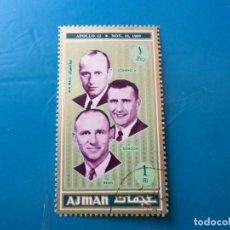 Sellos: *ARABIA SUDESTE, AJMAN, SELLO USADO, APOLO XII. Lote 270551938