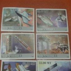 Sellos: SELLO MOZAMBIQUE NUEVO/2009/TRANSPORTE/ESPACIO/COSMOS/NAVES/SATELITES/LANZADERA/COHETE/TRANSBORDADOR. Lote 276740433
