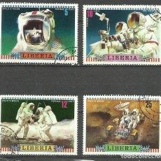 Sellos: LIBERIA LOTE SELLOS TEMATICA CONQUISTA DEL ESPACIO ASTRONAUTAS- APOLLO 16. Lote 277045523