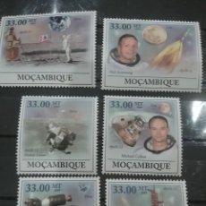 Sellos: SELLOS MOZAMBIQUE NUEVOS/2009/50ANIV/HOMBRE/LUNA/ESPACIO/VIAJES/LAMZADERA/COHETE/ASTRONAUTA/PLANETA. Lote 277081703