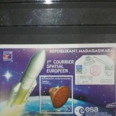 Sellos: HB MADAGASCAR (MADAGASIKARA) NUEVA/1999/ESPACIO/COHETE/COSMOS/ASTROS/CAPSULA/LANZADERA/SOBRE/PLANETA. Lote 278605343