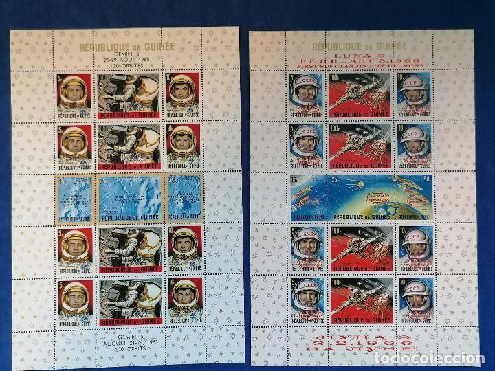 ASTRONOMIA HISTORIA DEL ESPACIO GUINEA AÑO 1965 Y 1966 2 HBS SERIE COMPLETA NUEVA (Sellos - Temáticas - Conquista del Espacio)