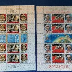 Sellos: ASTRONOMIA HISTORIA DEL ESPACIO GUINEA AÑO 1965 Y 1966 2 HBS SERIE COMPLETA NUEVA. Lote 280112088
