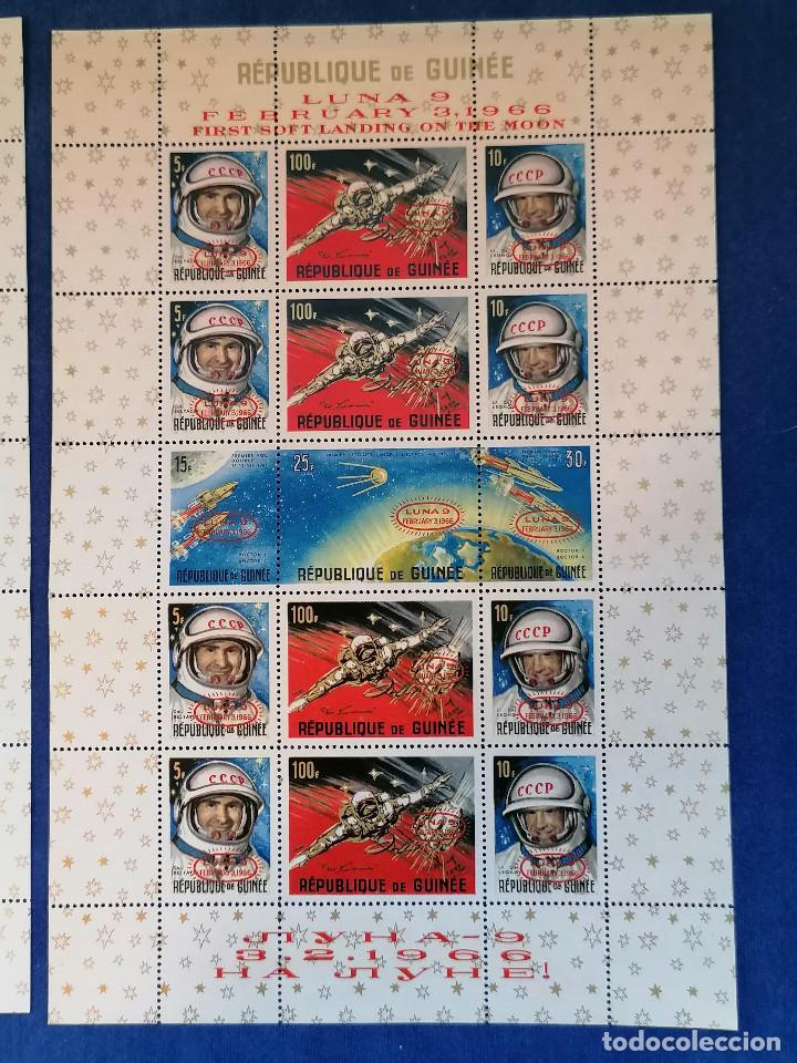 Sellos: Astronomia Historia del Espacio Guinea Año 1965 y 1966 2 hbs serie Completa nueva - Foto 3 - 280112088