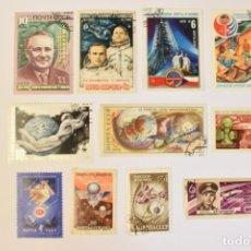 Selos: 11 SELLOS DE LA URSS TEMA ESPACIO. Lote 282591593