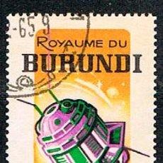 Sellos: BURUNDI Nº 173, SATELITE, CENTENARIO DE LA UNIÓN INTERNACIONAL DE TELECOMUNICACIONES, USADO. Lote 284378148