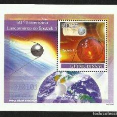 Sellos: GUINEA 2007 HOJA BLOQUE SELLOS CONQUISTA DEL ESPACIO- 50 ANIVERSARIO LANZAMIENTO DEL SPUTNIK 1. Lote 287312068