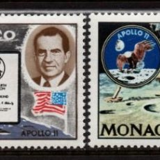 Sellos: MONACO 829/30** - AÑO 1970 - CONQUISTA DEL ESPACIO - APOLO XI. Lote 287337563