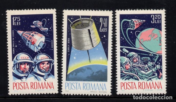RUMANIA 2142/44** - AÑO 1965 - CONQUISTA DEL ESPACIO (Sellos - Temáticas - Conquista del Espacio)