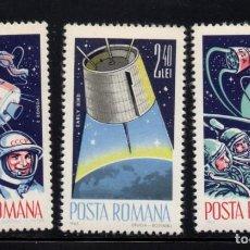 Sellos: RUMANIA 2142/44** - AÑO 1965 - CONQUISTA DEL ESPACIO. Lote 287354973