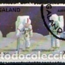 Sellos: NAGALAND, VIAJES ESPACIALES, APOLO XVI, USADO. Lote 287936238