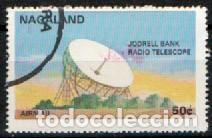 NAGALAND, VIAJES ESPACIALES, RADIO TELESCOPIO JODRELL BANK, USADO (Sellos - Temáticas - Conquista del Espacio)