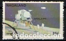 NAGALAND, VIAJES ESPACIALES, APOLO XVI, USADO (Sellos - Temáticas - Conquista del Espacio)