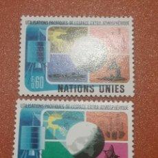 Sellos: SELLO NACIONES UNIDAS (GINEBRA) NUEVOS/1975/USO/PRCTICO/ESPACIO/SOL/TIERRA/PLAMETA/ANTENA/BARCO/BUQU. Lote 288222333