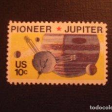 Sellos: ESTADOS UNIDOS Nº YVERT 1044*** AÑO 1975. MISION ESPACIAL PIONEER HACIA JUPITER. Lote 288735398
