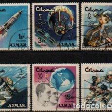 Sellos: AJMAN (EMIRATOS ARABES UNIDOS), 117/22, MISIONES ESPACIALES, USADO SERIE COMPLETA. Lote 289433398