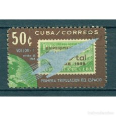 Sellos: ⚡ DISCOUNT CUBA 1964 THE 1ST THREE-MANNED SPACE FLIGHT NG - SPACE, STAMPS ON STAMPS, SPACES. Lote 289929918