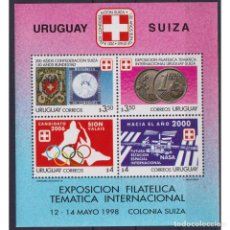 Sellos: ⚡ DISCOUNT URUGUAY 1998 URUGUAYAN-SWISS STAMP EXHIBITION MNH - STAMPS ON STAMPS, COINS ON ST. Lote 289963593