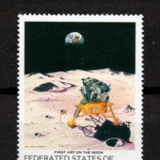 Sellos: MICRONESIA 100** - AÑO 1989 - CONQUISTA DEL ESPACIO - EL HOMBRE EN LA LUNA. Lote 295354258