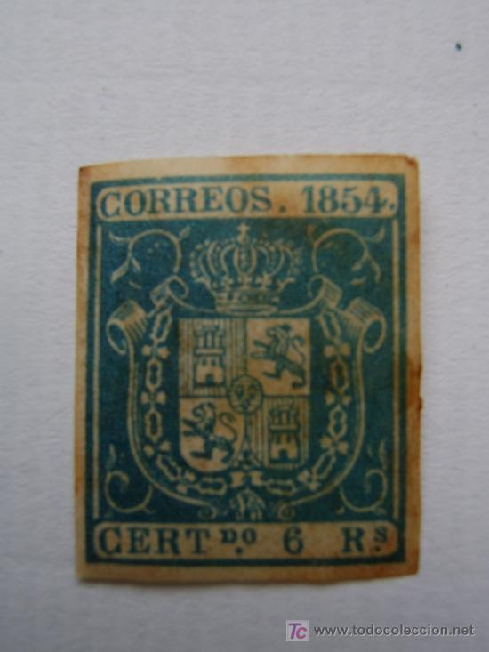 6 REALES AZUL.NUEVO.1854 (Sellos - España - Otros Clásicos de 1.850 a 1.885 - Nuevos)