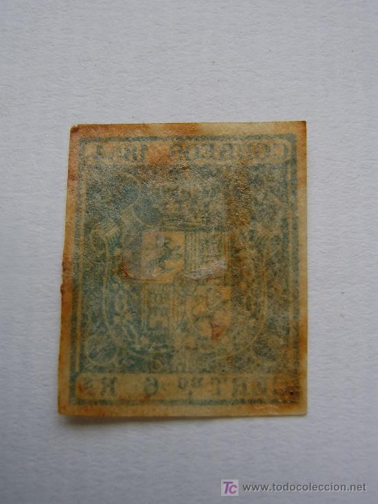 Sellos: 6 REALES AZUL.NUEVO.1854 - Foto 2 - 26804560