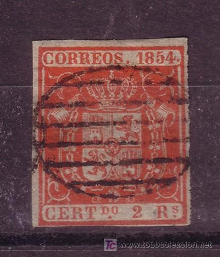ESPAÑA EDIFIL 25 - AÑO 1854 - ESCUDO DE ESPAÑA (Sellos - España - Otros Clásicos de 1.850 a 1.885 - Usados)