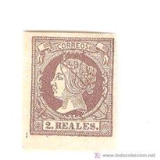 Sellos: 1860-61,2 REALES. Lote 27448015