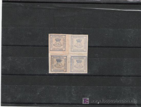 Nº115 CORTADO Y PEGADO SOBRE PAPEL (Sellos - España - Otros Clásicos de 1.850 a 1.885 - Cartas)