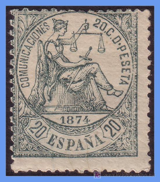 1874 ALEGORÍA DE LA JUSTICIA Nº 146 * (Sellos - España - Otros Clásicos de 1.850 a 1.885 - Usados)