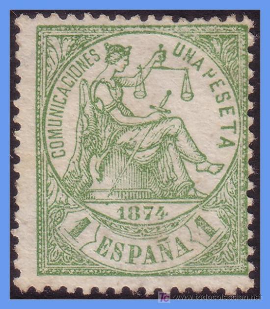 1874 ALEGORÍA DE LA JUSTICIA Nº 150 (*) (Sellos - España - Otros Clásicos de 1.850 a 1.885 - Usados)