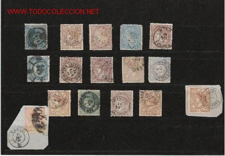 FECHADORES MAGNIFICO LOTE EL DE LA FOTO (Sellos - España - Otros Clásicos de 1.850 a 1.885 - Usados)
