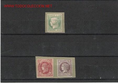 ESPAÑA MUY BONITOS Nº 15, 56 Y 60 PEGADOS SOBRE PAPEL (Sellos - España - Otros Clásicos de 1.850 a 1.885 - Cartas)